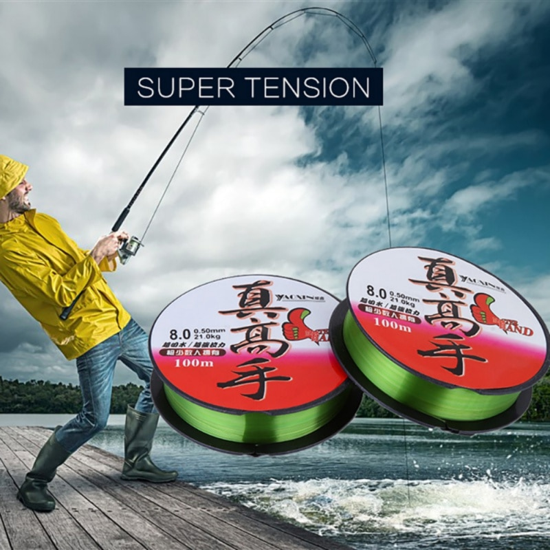 100M/109 Yard Ocean Fishing Line Nylon Corrosion Resistant Freshwater Saltwater Wire Outdoor Accessories Fishing Rope