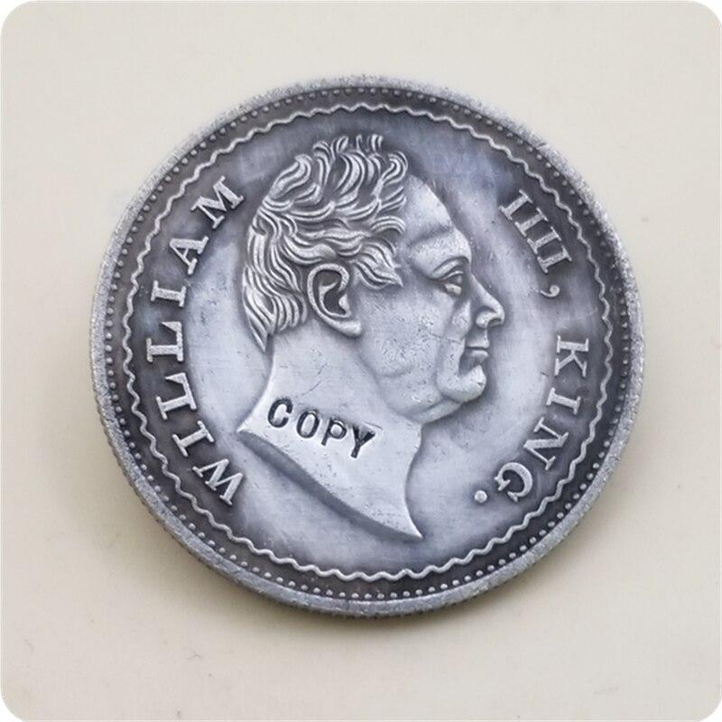 1834 Rúpia Índia-Britânico 1-William IV CÓPIA MOEDA