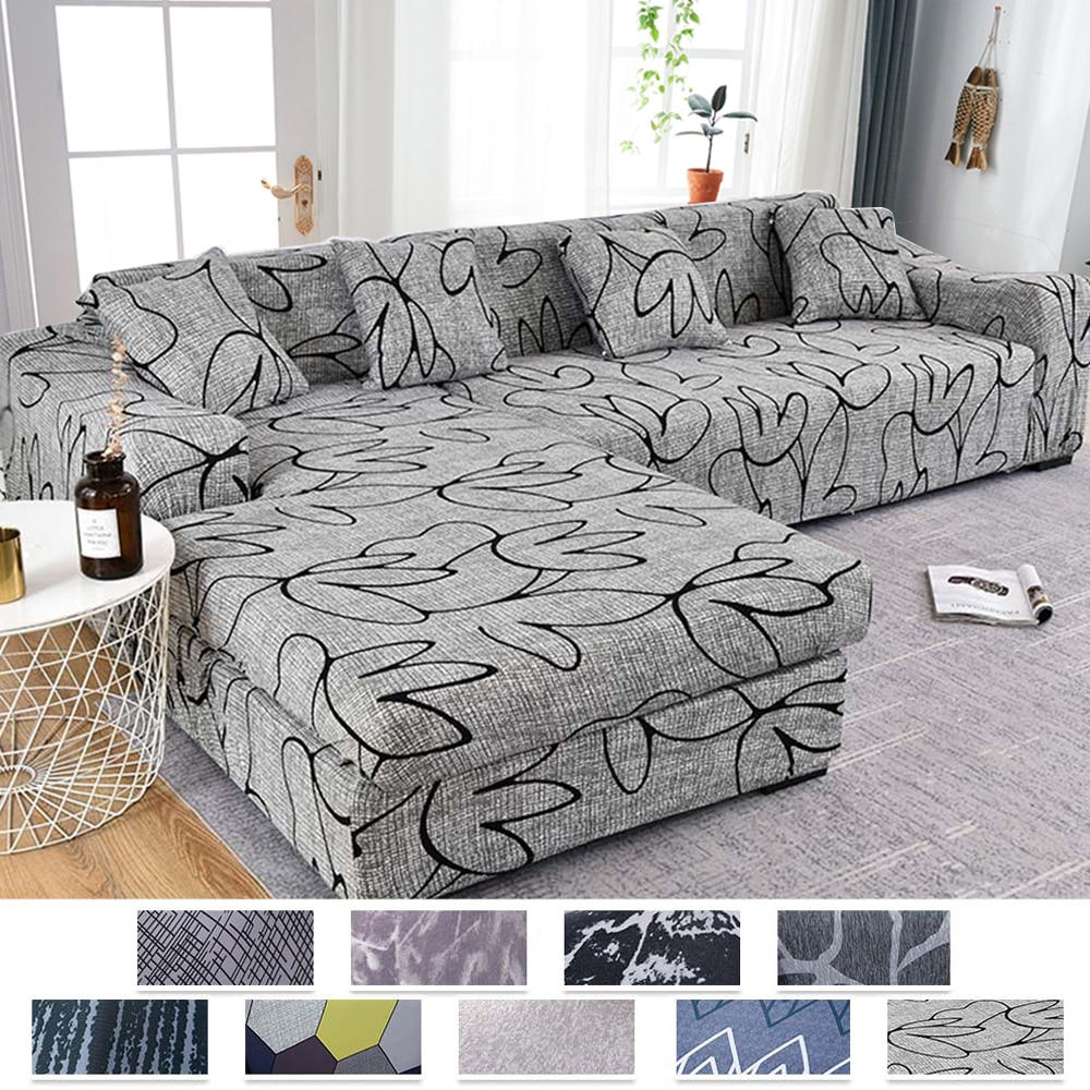 Sofa Cover for Living Room Stretch Printed Sofa Slipcover L shape Corner Sofa Covers funda sofa Elastic Couch Cover 1/2/3/4-seat недорого