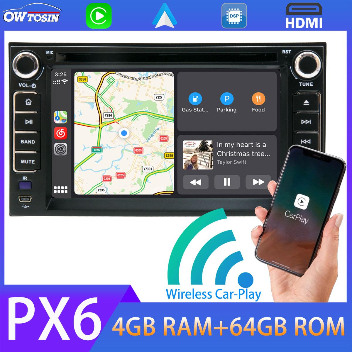 """6.2 """"PX6 4 + 64G Android 10 Auto DVD-Multimedia-Player Für Kia Lotze Sedona Spectra Morgen Picanto GPS Radio CarPlay DSP HDMI Auto"""