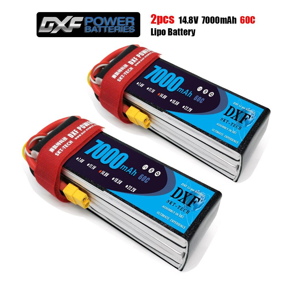 DXF batería lipo 2S 3S 4S 7,4 V 11,1 V 14,8 V 7000mah 50C 60C 100C 120C Hardcase grafeno para RC TRXX coche barco helicóptero