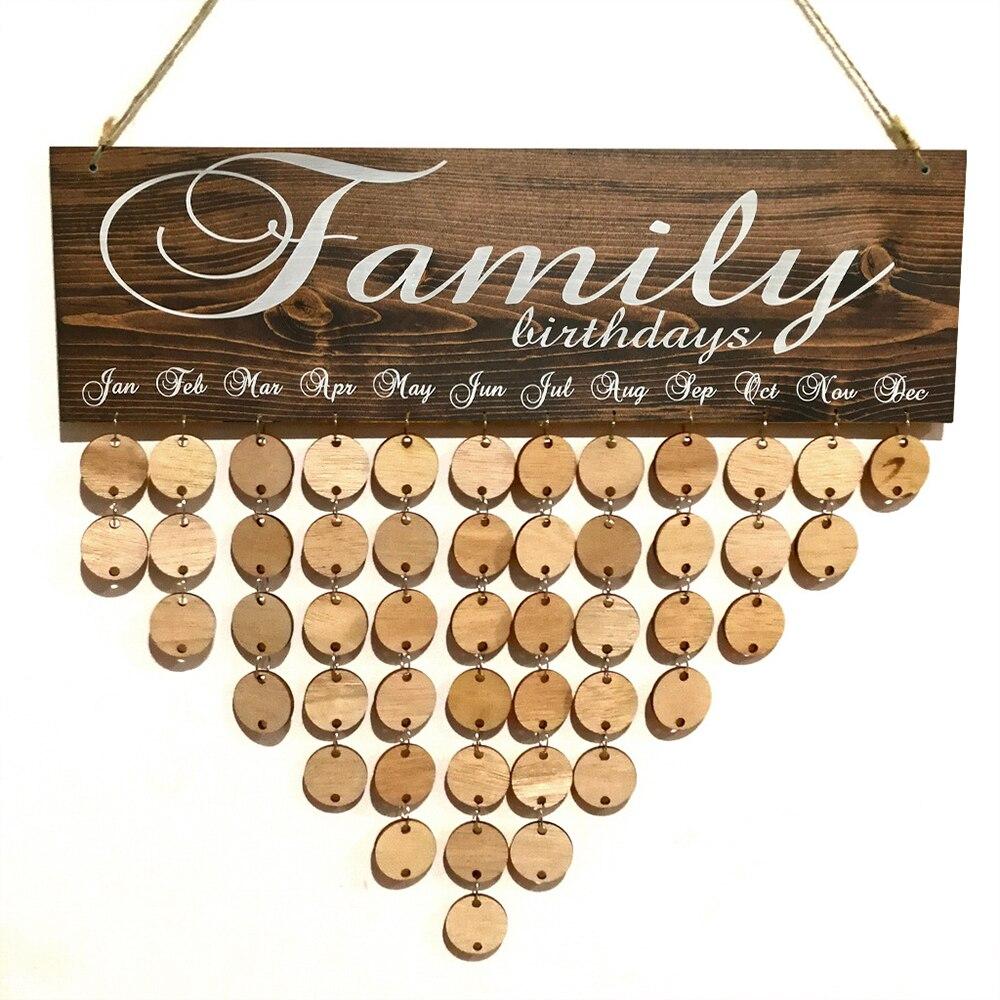 Календарь доска напоминаний специальные дни семья друг день рождения даты знак дерево кулон DIY ремесло Настенный декор для гостиной