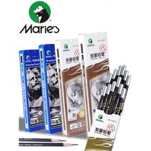 1pc Maries profesjonalny szkic rysunek ołówkiem/ołówek węglowy 2H HB B 2B 3B 4B 5B 6B 7B 8B 10B sztuki artykuły biurowe
