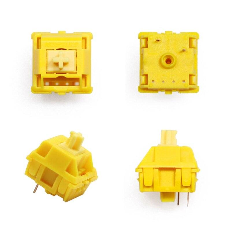 35 قطعة Gateron غطاء التبديل حليبي الذهب التبديل إضافات 3pin RGB الخطي 50g التبديل G6DD
