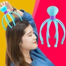 1pcs Head Massager Neck Massage Octopus Scalp Stress Relax Spa Healing Alloy Health Care Tool Body H