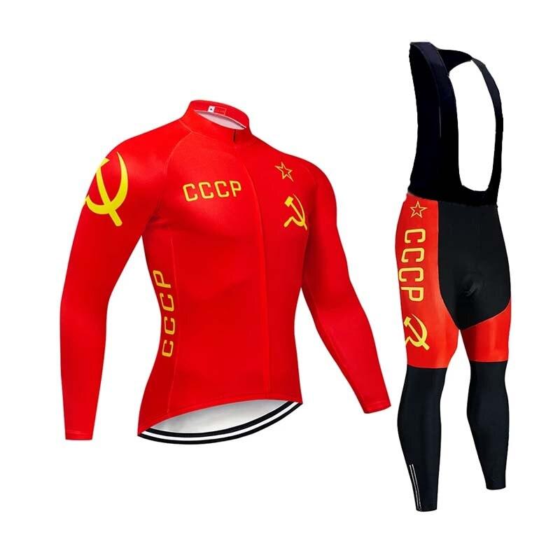 2021-CCCP-Winter-Men-Warm-Jersey-Pro-Team-الدراجات الستر-الحراري-الصوف-الدراجة-الدراجات-دافئ