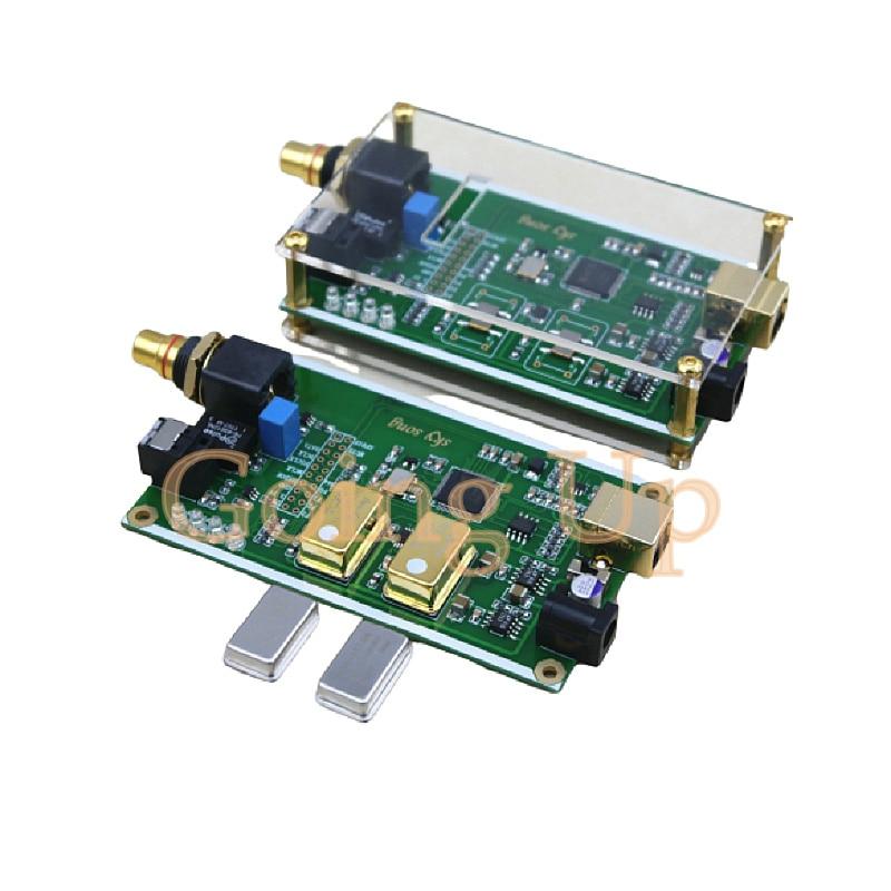 XMOS XU208 asynchrone USB coaxial faser ausgang digital interface IIS DSD256 SPDIF dop64