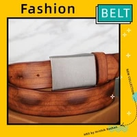 leather belt mens leather vintage handmade leather soft leather casual all match belt jeans waistband for young people