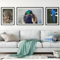 Animal paysage peinture a lhuile bleu oiseau art toile peinture salon couloir bar decoration murale