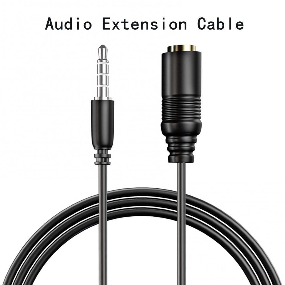 Cable de extensión de Audio estéreo para auriculares y coche, conector portátil...