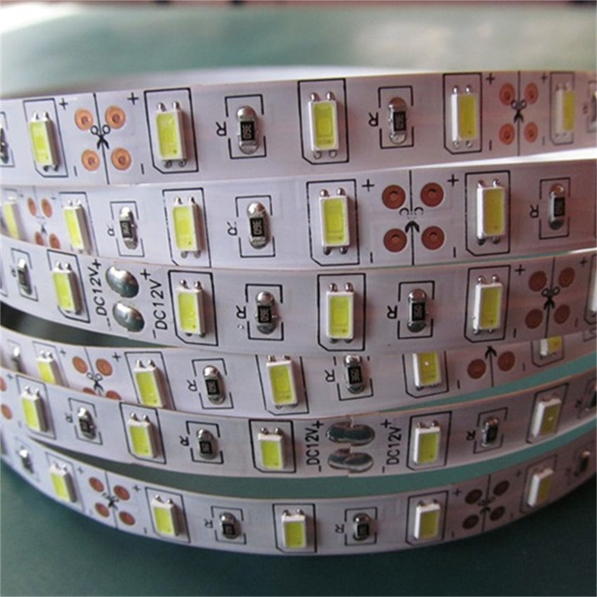 Free Shipping Cost Factory price LED strip light 300LED good sale SMD5630 60LED Strip light wholesale Double FPC board Good 3M enlarge