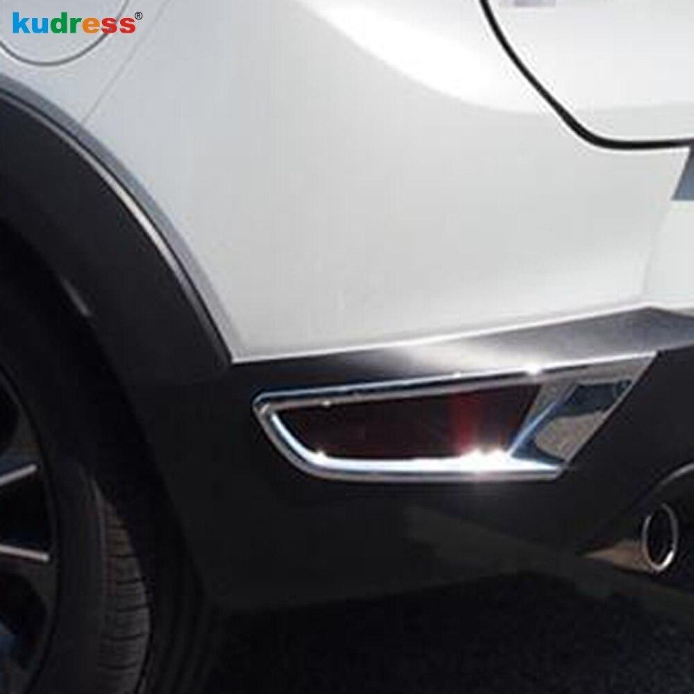 Para Mazda CX-3 CX3 2019 2020 2015-2018 ABS cromo luz antiniebla trasera cubierta Cap Trim Foglight parachoques Reflector accesorios 2 uds