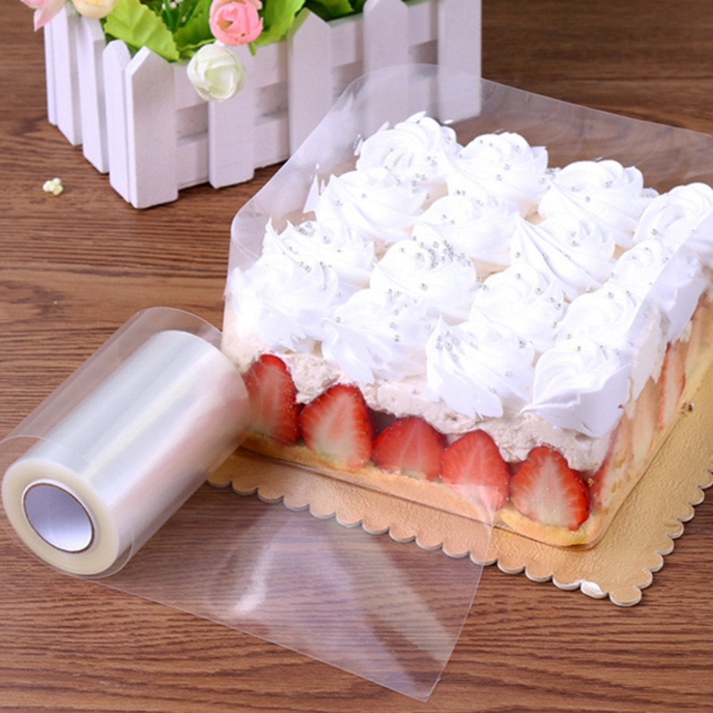 10M Mousse Surrounding Edge Cake Wrapping Tape Baking Roll Packaging DIY Cake Decorating Tools, 8CM Width