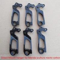 2pc bicycle gear hanger for shimano direct mount merida reacto cf frame merida scultura carbon frame bike mech dropout tail hook
