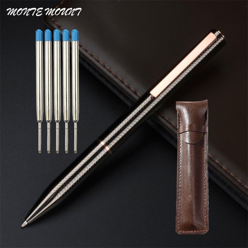 Шариковая ручка для студентов, металлическая шариковая ручка, роскошные деловые офисные подарки, школьные принадлежности