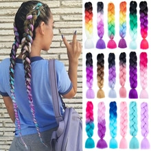 Expression Crochet Jumbo Braids Hair Colored 24 Inch Fake Synthetic Braiding Hair Extensions for Bra
