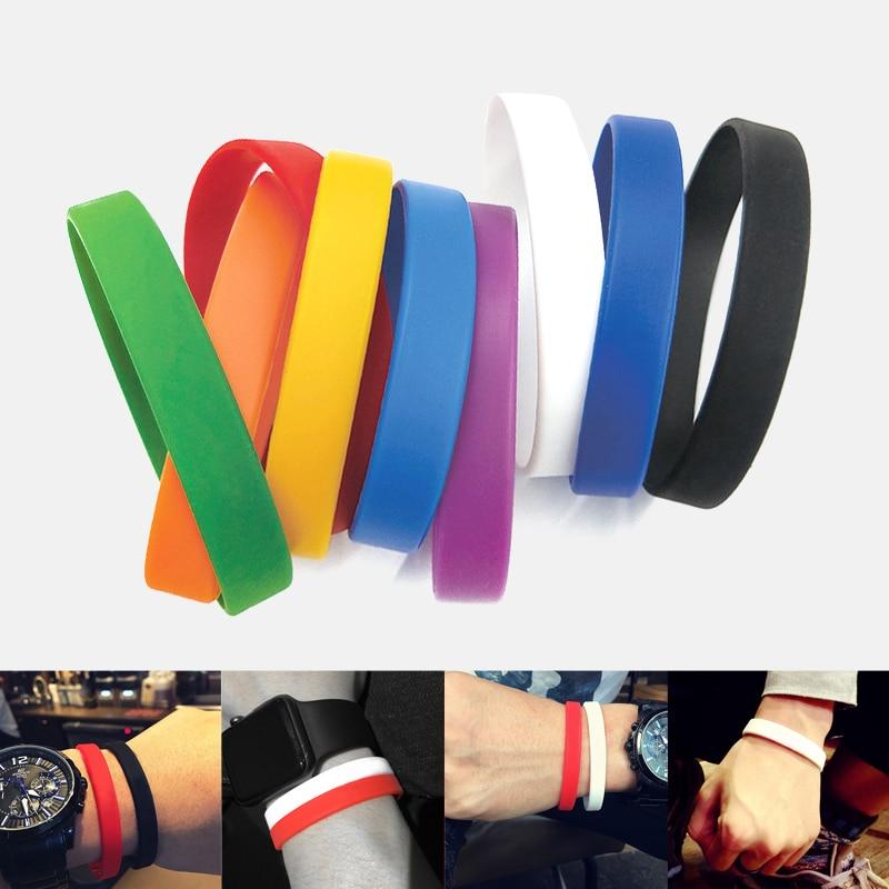 1pc Sports Best Friend Printed Letters Luminous Silicone Bracelets Bangles Women Fluorescent Rubber Fitness Wristband Bracelet