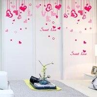 Doux amour Stickers muraux bricolage suspendus ornement Stickers muraux pour salon chambre maison decoration de mariage