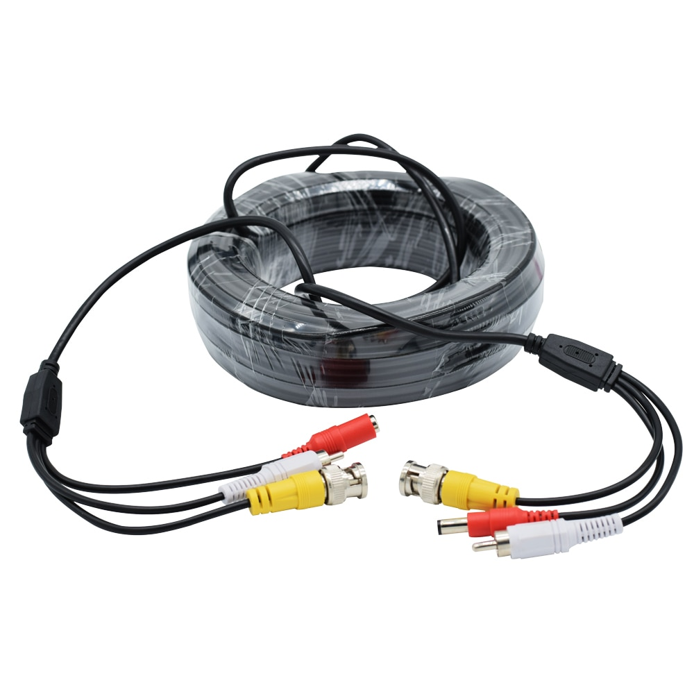 5M/10/15M/20M/30M/40M AHD CCTV Camera DC+RCA+BNC DVR System Cable Output DC Plug Cable 3 in 1 Analog  Security Camera Cables enlarge