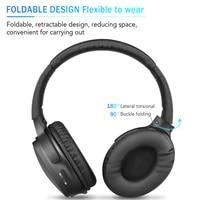foldable hk02 bluetooth compatible 5 0 headset wireless headphone for ear head phone iphone xiaomi huawei earbud earpiece newest