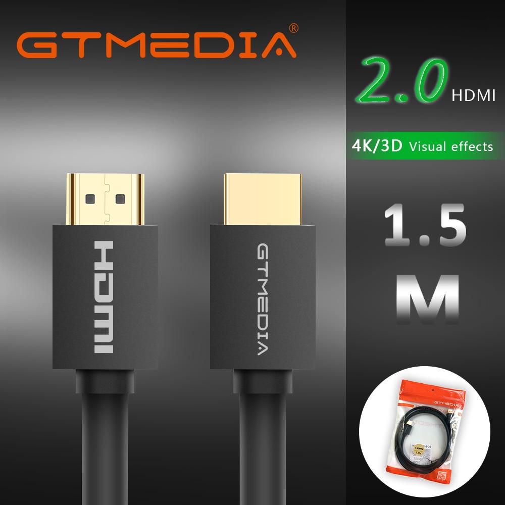 Cabo HDMI 2.0 K 60 4 GTMEDIA Hz Fibra Cabo HDMI Óptica 2.0 2.0a 2.0b HDR HDCP2.2 para HDTV Projetor Caixa De Cabo HDMI 1 PS4 m 2m 3m