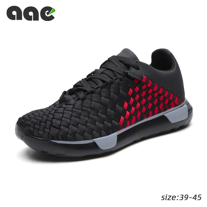 Zapatillas de deporte 2020 para Hombre, zapatos tejidos a mano, zapatos planos...