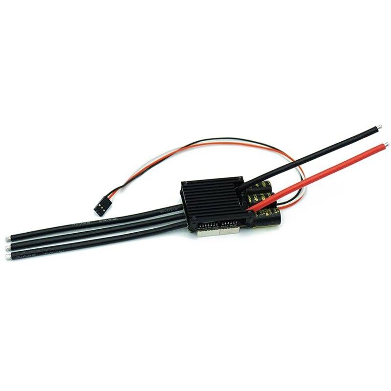 جهاز تحكم كهربائي للسرعة لألواح تزلج صغير fsخص4.20 50A قاعدة على VESC 4.12 مع بالوعة حرارية بأكسيد الألومنيوم 12S Esc