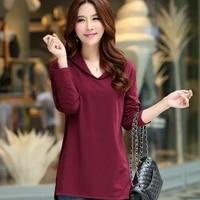 korean version of the spring 2020 new casual long sleeved bottom shirt large size womens wear medium length v neck loose