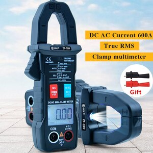 BSIDE True RMS Multimeter Clamp Ammeter 6000 Counts Digital Clamp Meter Voltage Current Temperature Resistance Meter NCV Test