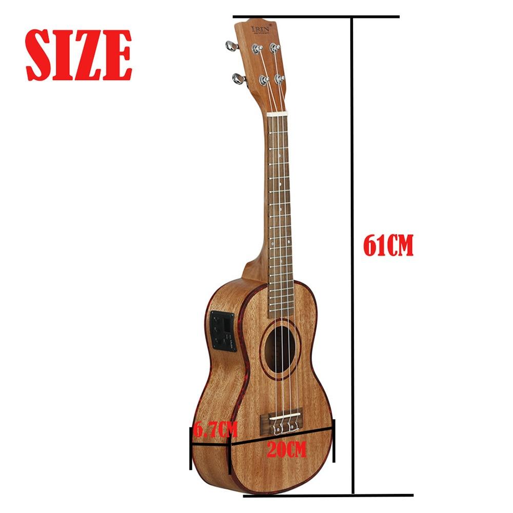 IRIN 24 Inch Ukulele 4 Strings Hawaiian Guitar Sapele Electroacoustic Ukulele With EQ Mini Guitar Stringed Musical Instrument enlarge