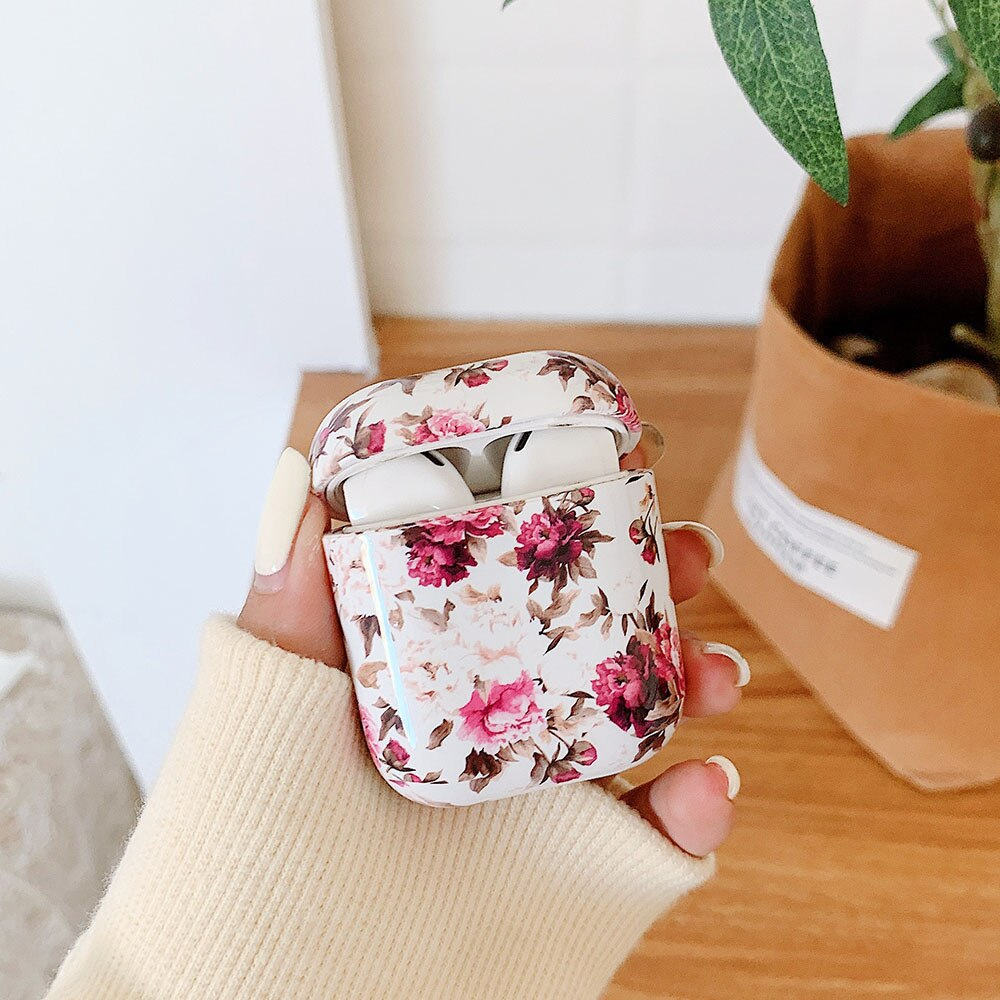 Christmas New Year Case For 2 Pro Earphone Cases Flowers Hard Headphone Protective Cover for 1 2 3 Case Xmas Gift