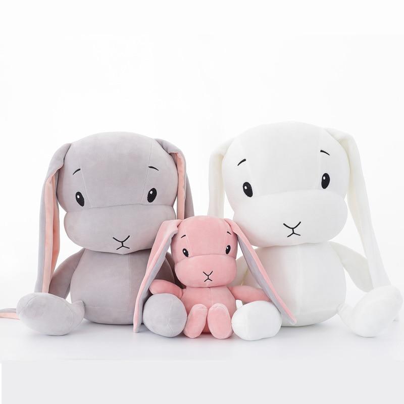 70 CM 50CM 30CM Cute Rabbit Plush Toys Super Soft Bunny Stuffed Animal Baby Doll Accompany Sleep Toy Kids Gifts