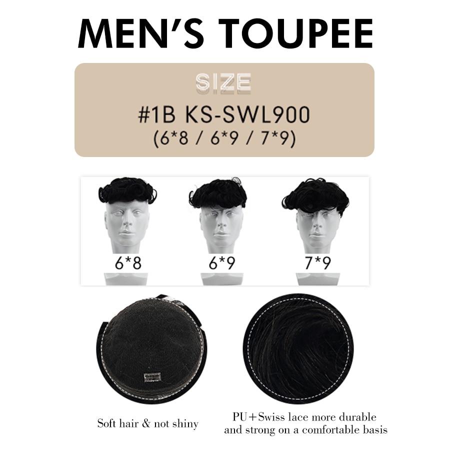 K.s perucas 6 hd hd hd laço suíço transparente peruca masculina 150% densidade natural hairline virgem cabelo humano durável hairpieces para homem