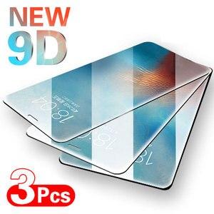 Защитное стекло с полным покрытием для iPhone 12 11 11 Pro Max, пленка из закаленного стекла для iPhone X, XS, XR, 6, 6s, 7, 8 Plus, стекло для экрана, 3 шт.
