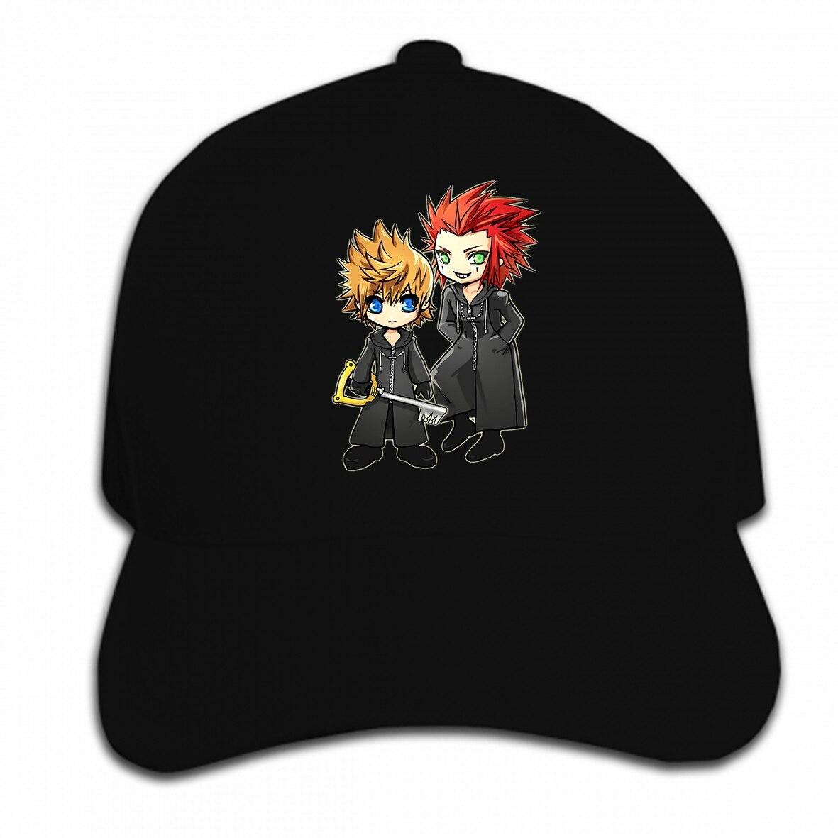 Imprimir gorra de béisbol personalizada Roxas y Axel Kingdom corazones sombrero gorra pico