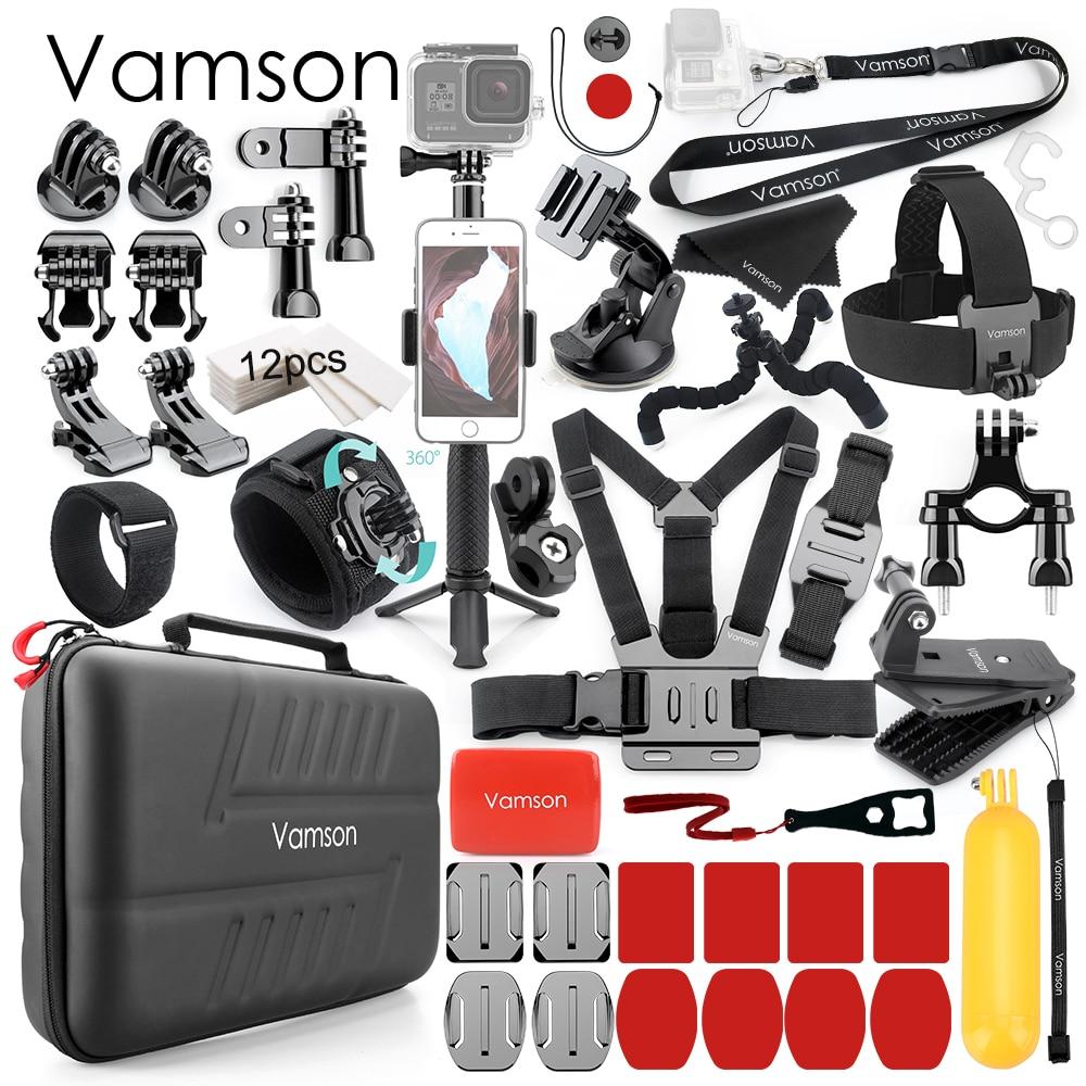 Vamson pour Gopro Hero 8 noir 7 6 5 accessoires Kit monopode monture pour DJI OSMO caméra daction pour Xiaomi Yi 4K Sport caméra VS26