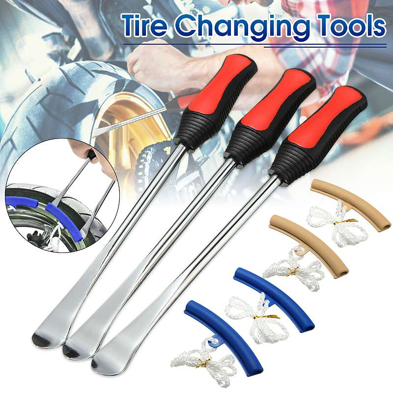 5 pcs Motorcycle Bicycle Tire Changing Levers Spoon Tire Iron Kit Tire Changing Lever Tools Professional Tire Repair Tool