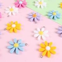 10 resin daisy flower charms pendants diy handmade material accessories xunya flower charms kl38dh