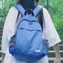 New Waterproof Nylon Women Backpack 2021 Solid Color Casual Backpack For Teenagers Women Large Capac