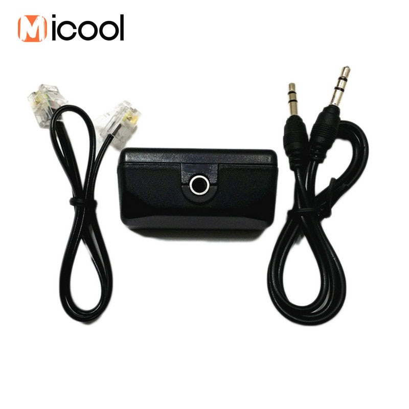Voice Recorder Telephone Adapter Include Audio Cable Line Phone Recording for Pen