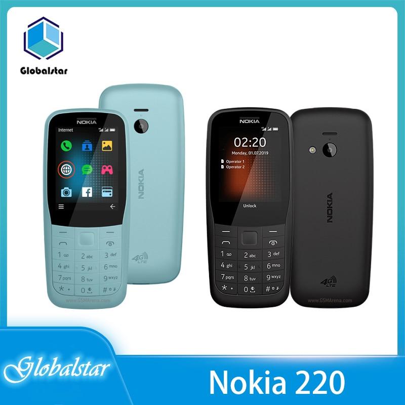 Перейти на Алиэкспресс и купить Nokia 220 (2020) Восстановленный 220 Оригинальный телефон с двумя Sim-картами Nokia 150 4G GSM 1200 мАч разблокированный дешевый телефон Бесплатная доставка