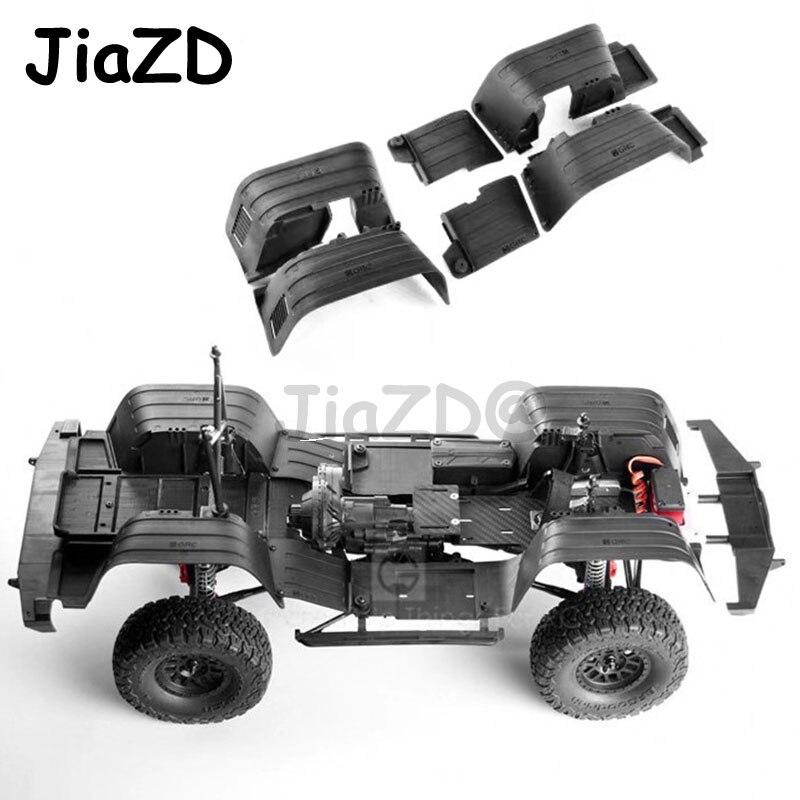 واقيات الطين الداخلية الأمامية والخلفية ، بلاستيك ، للسيارة التي يتم التحكم فيها عن بعد ، محوري SCX10 1/10 ، 90046 ، جيب شيروكي رانجلر ، 90047 ، أسود
