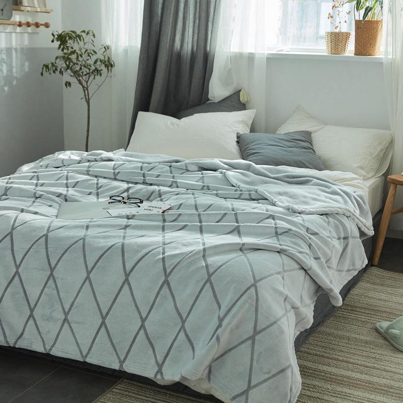 Yaapeet-بطانية منقوشة ماسية ، غطاء سرير أوروبي ، نمط غيوم قصير ، مكيف هواء ، آذان القمح ، 1 قطعة