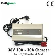 Cargador portátil inteligente de 36V 20A 25A para montacargas eléctrico, Scooter para 12S 43,8 V Lifepo4 10S 42V LiNCM batería de plomo-ácido