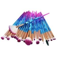 20Pcs Diamond Makeup Brushes Set Powder Foundation Blush Blending Eye shadow Lip Cosmetic Beauty Mak