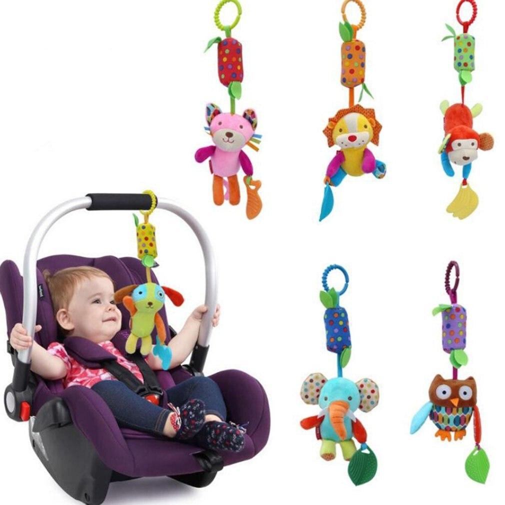 Детские погремушки для коляски, коляски, кроватки, подвесные Мягкие плюшевые игрушки, зажим для животных, детская кроватка, подвесные колок...