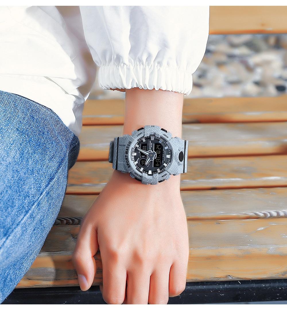 Fashion SANDA Sport Women Digital Quartz Watches Teenager Blue LED Waterproof Military Shock Resist Clock Relogio Masculino
