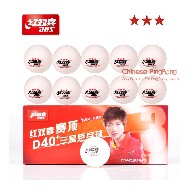 DHS 3 Star D40+ Table Tennis Ball 3-STAR Seamed ABS Balls Plastic Poly Original DHS 3 STAR Ping Pong