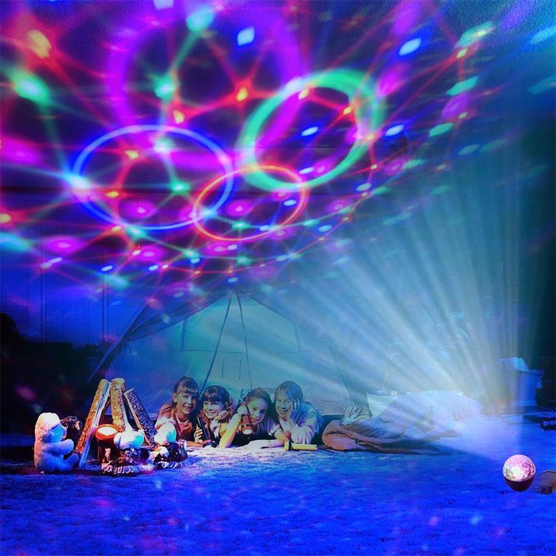 Con luz de escenario de Control remoto, entretenimiento interior, estancia en casa, luz estroboscópica luminosa, lámpara de baile, iluminación de vacaciones, fantástica