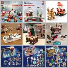In Stock 2019 Christmas Santa Advent Calendar Building Blocks Bricks Toys 40223 75245 601090 601091 601092 10263 41382 60235